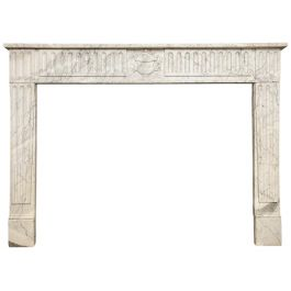 Louis XVI Antique Marble Fireplace Mantel