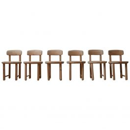 Set of Six Pine Mid-Century Dining Chairs by Rainer Daumiller '6'