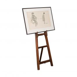 Antique Artist's Easel, English, Picture Stand, Arts & Crafts, Victorian, 1900
