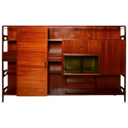 Mid Century Modern Italian Wall Unit Attributed to Vittorio Dassi