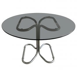 Mid-Century Modern Italian Giotto Stoppino Dining or Center Table, 1970s