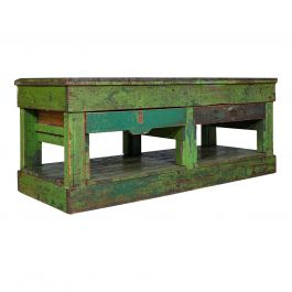 Large Antique Industrial Mill Table, English, Pine, Kitchen Island, Victorian