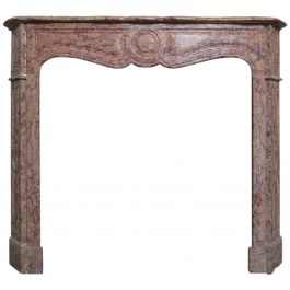 A 19th Century Pompadour Marble Fireplace