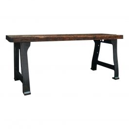 Antique Foundry Table, English, Pine, Iron, Heavy, Industrial Taste, Victorian
