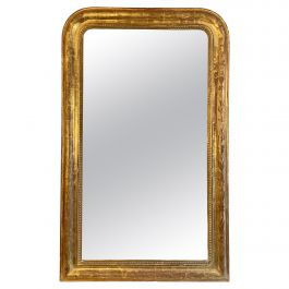An Antique French Gold Gilt Mirror