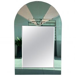 Mid-Century Modern Italian Full Length Wall Mirror with Colored Mirror Inserts