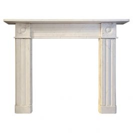 Early 19th Century Statuary White Marble Fireplace Mantel
