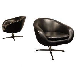 Pair of vintage swivel chairs, 1960s