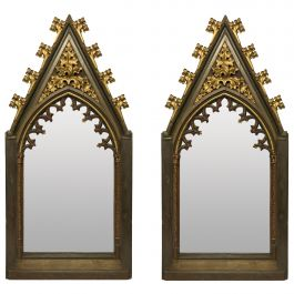 Pair of Large Early 19th Century Gothic Revival Mirrors