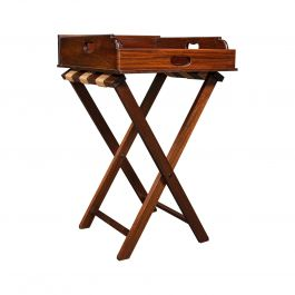 Antique Butler's Stand, English, Mahogany, Serving Tray, Rest, Victorian, C.1900
