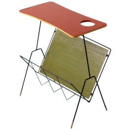 Italian Green and Red Side Table