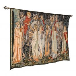 Large Vintage Tapestry, French, Jacquard, Decorative Wall Covering, Holy Grail