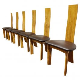 Set of 6 Dining Chairs by Rob & Dries Van den Berghe, 1980s
