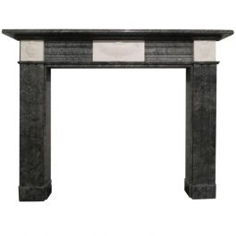 Early 19th Century Bardiglio Marble Fireplace Mantel