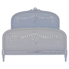 Antique French Bed US Queen UK King Size Painted 19th Century Louis XV