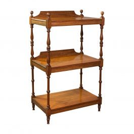 Antique 3 Tier Whatnot, English, Mahogany, Buffet, Display Stand, Victorian