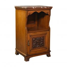 Antique Nightstand, English, Walnut, Bedside Cabinet, Gillow & Co, Victorian