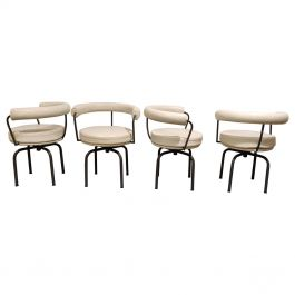 Vintage Corbusier LC7 Dining Chairs, 1970s