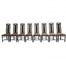 Dining Chairs Umberto Asnago for Giorgetti, 1980s
