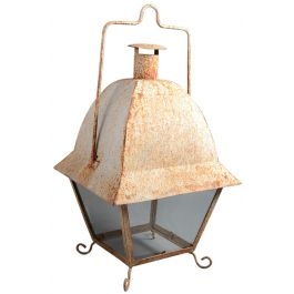 An Indian white painted storm lantern