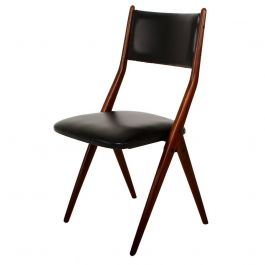 Pair of Four Midcentury Italian Dining chair chairs