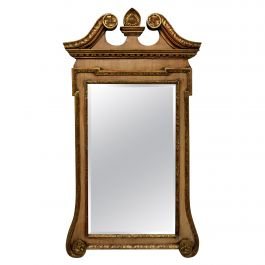 Faded Mahogany and Giltwood George II Style Mirror