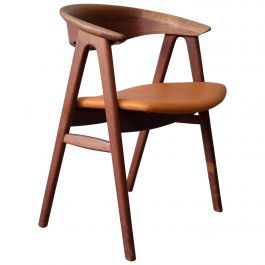 Stunning Chair in Teak, No. 52 by Erik Kirkegaard for Høng Stolefabrik