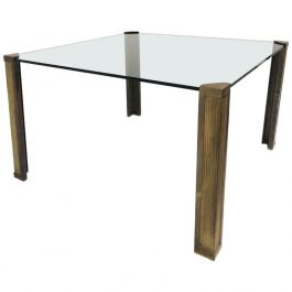 Bronze Dining Table T14 by Peter Ghyczy, 1970s
