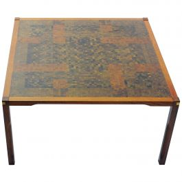 1970s Rolf Middelboe and Gorm Lindum Larsen Coffee Table in Padouk with Mosaic