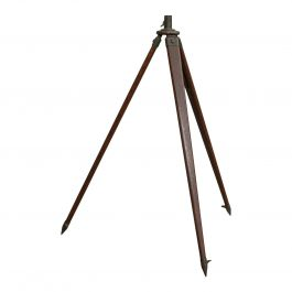Vintage Telescope Tripod, English, Oak, Bronze, Support Stand, 20th Century