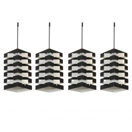 Set of Four Geometric Pendant Lamps