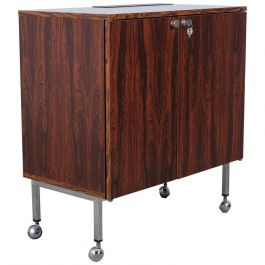 1971s Danish Rosewood Bar With Fridge