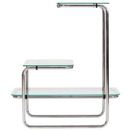 Art Deco Steel and Glass Étagère, 1930s