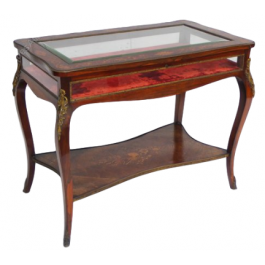 19th Century Rosewood & Marquetry Bijouterie Table