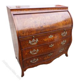 18th Century Dutch Marquetry Bureau