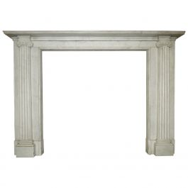 Regency Style White Marble Fireplace Mantel