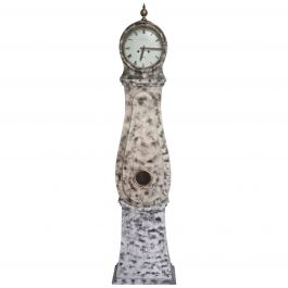 Antique Mora Clock Swedish Faux Marble Finish, early 1800s