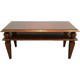 ART DECO MAHOGANY COFFEE TABLE