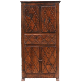 Provincial Folk Art Cupboard 19th Century France