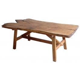 Mid 20th Century Elm Slab Table