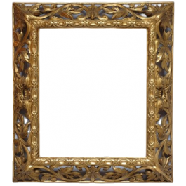 LARGE 19THC GILDED MIRROR/PICTURE FRAME