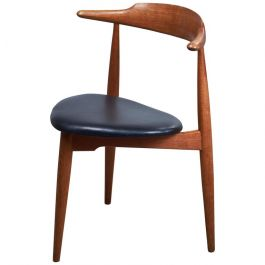 Vintage Oak Heart Chair FH 4103 by Hans J. Wegner for Fritz Hansen