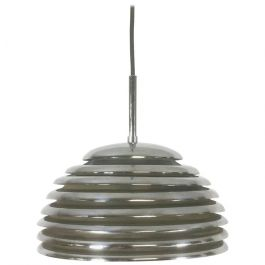1960s Chrome Hanging Pendant Lamp Light By Kazuo Motozawa