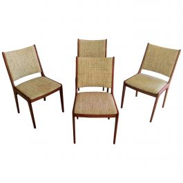 Johannes Andersen Set of Four Refinished Teak Dining Chairs, Inc. Reupholstery