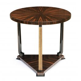 Axel Einar Hjorth, Ebony Macassar and Parcel-Gilt Table