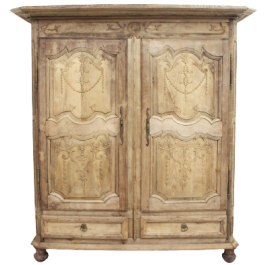 A Late 17th/Early 18th C French Finely Carved Oak Two Door Armoire