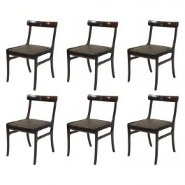 1960s Ole Wanscher set of Six Mahogany Dining Chairs, Choice of Upholstery