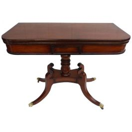 Fine George III Mahogany Card Table