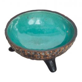 Modern Mexican Decorative Bowl from Texcoco Tripod Base