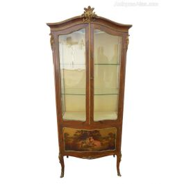 19th C French Kingwood and Ormulu Display Cabinet